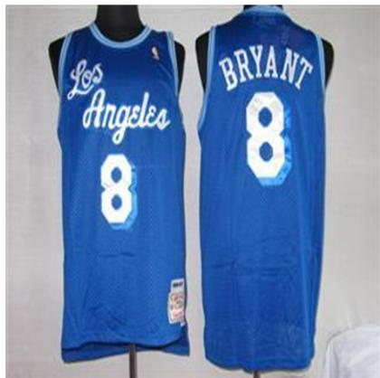 Los Angeles Lakers 8 Bryant Blue mitchellandness Jersey