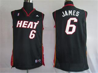 Miami Heat 6 James Black Fans version Jersey