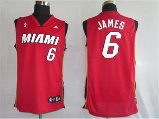 Miami Heat 6 James Red Fans version Jersey