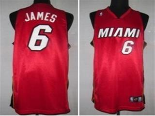 Miami Heat 6 James Red Jersey