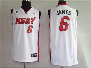 Miami Heat 6 James White Fans version Jersey