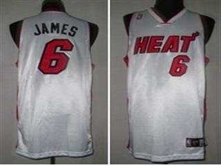 Miami Heat 6 James White Jersey