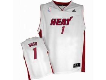 Minmi Heat 1 Chris Bosh White Jersey
