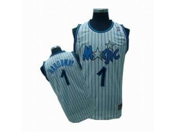Orlando Magic 1 Penny Hardaway White Strip Jersey