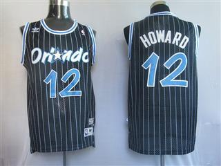 Orlando Magic 12 HOWARD Black Swingmin jersey