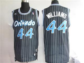 Orlando Magic 44 WILLIAMS Black strip Jersey
