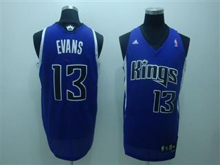 Sacramento Kings 13 evans blue Jersey
