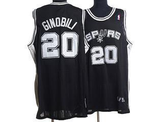 San Antonio Spurs 20 GINOBILI BLACK Jersey