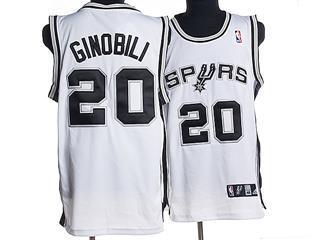 San Antonio Spurs 20 GINOBILI WHITE Jersey