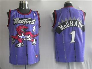 Toronto Raptors 1 McGrady Purple Jersey
