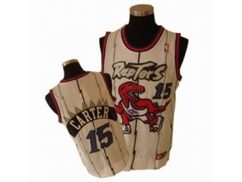 Toronto Raptors 15 Amir Johnson White Jersey