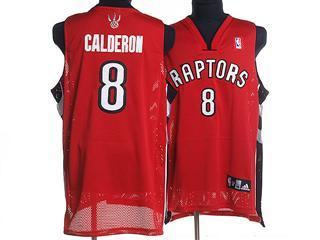 Toronto Raptors 8 CALDERON RED Jersey