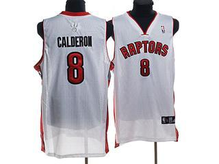 Toronto Raptors 8 CALDERON WHITE Jersey