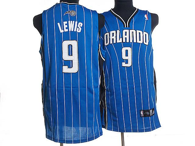 Orlando Magic 9 LEWIS Blue Strip NBA Jersey