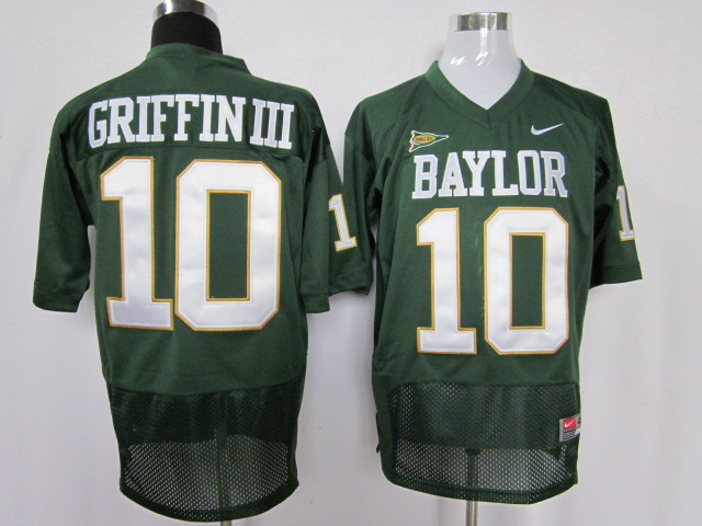 Baylor Bears 10 Robert Griffin III green jersey