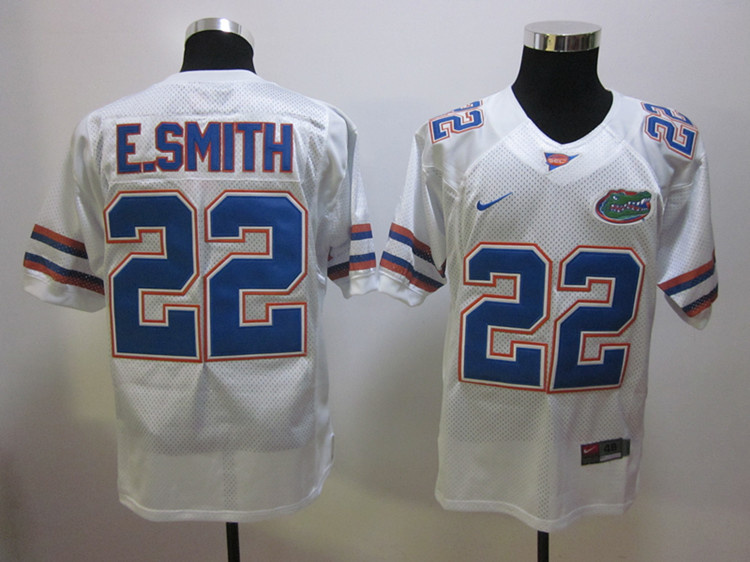 College Jersey Florida Gators 22 Emmitt Smith white Football Jersey