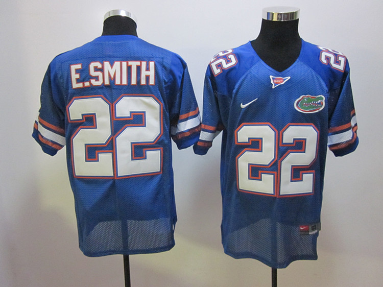 College Jersey Florida Gators 22 Emmitt Smith Blue Football Jersey