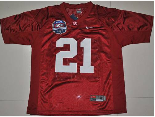 Crimson Tide 21 Dre Kirkpatrick Red BCS Championship Patch Stitched NCAA Jersey.
