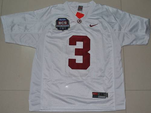 Crimson Tide 3 Trent Richardson White BCS Championship Patch Stitched NCAA Jersey.jpg
