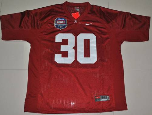 Crimson Tide 30 Donot Hightower Red BCS Championship Patch Stitched NCAA Jersey