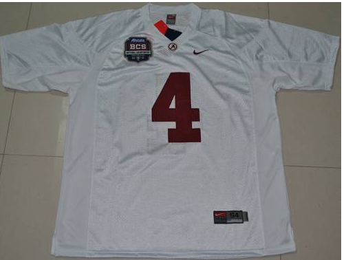 Crimson Tide 4 Mark Barron White BCS Championship Patch Stitched NCAA Jersey.png