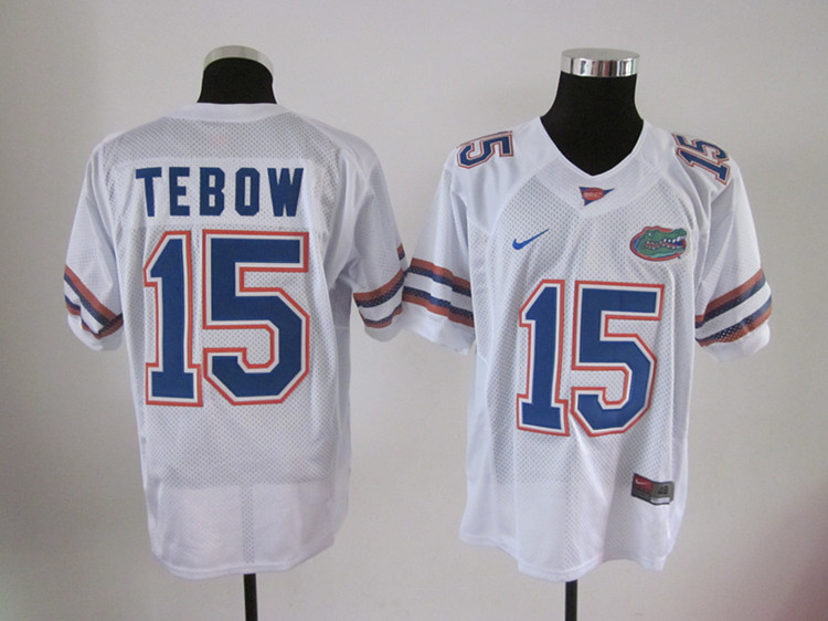 Florida Gators 15 Tim Tebow white color football jerseys