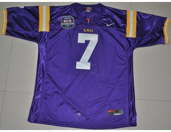 LSU Tigers Tyrann Mathieu 7 Purple BCS Bowl NCAA Football Cheap Jersey