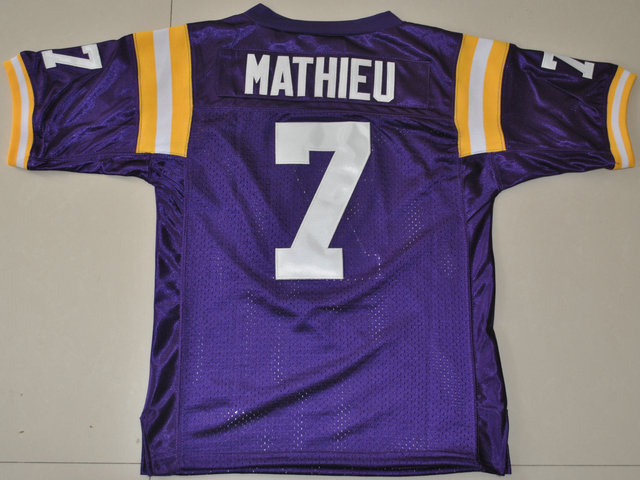 LSU Tigers Tyrann Mathieu 7 Youth College Football Jersey