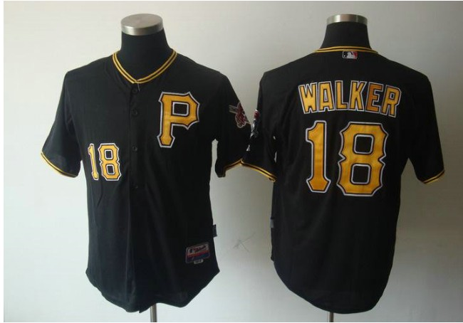 MLB Jerseys Pittsburgh Pirates 18 Walker Black Cool Base