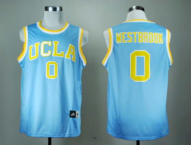 NBA NCAA Addidas UCLA Bruins Russell Westbrook 0 Blue College Basketball