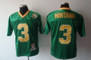 NCAA 3 Joe Montana Notre Dame Fighting Irish 30th Anniversary green