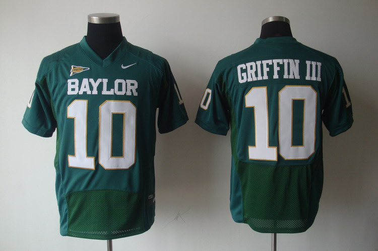 NCAA Baylor Bears 10 Robert Griffin III College Green Football