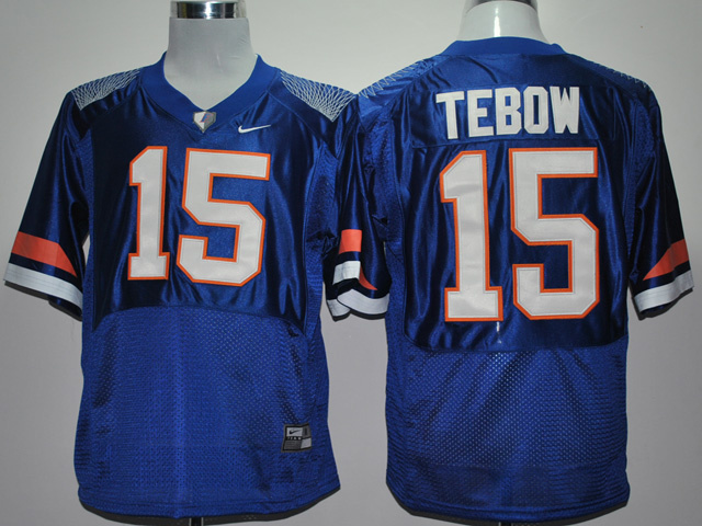 NCAA Florida Gators 15 Tim Tebow Pro Combat Blue College Football