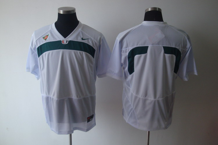 NCAA Miami Hurricanes blank white jerseys