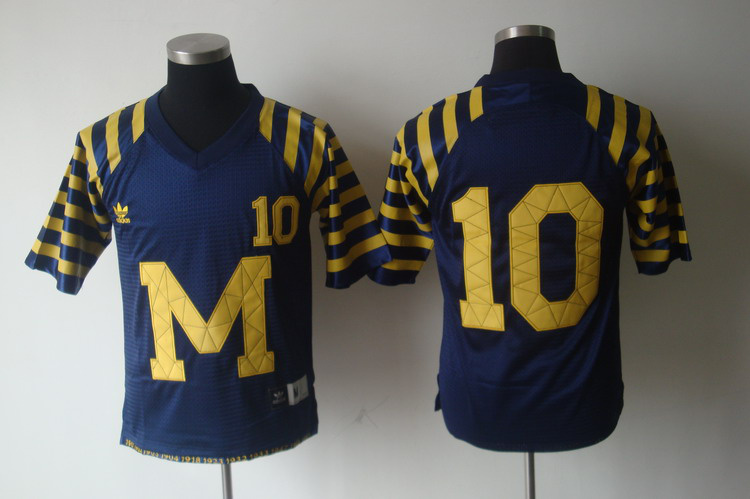 NCAA Michigan Wolverines 10 Brady Blue Jersey