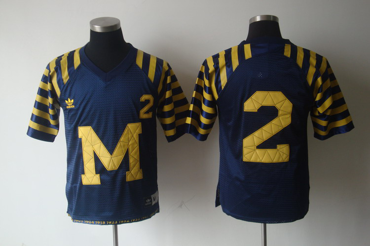 NCAA Michigan Wolverines 2 Charles Woodson Navy Blue Football