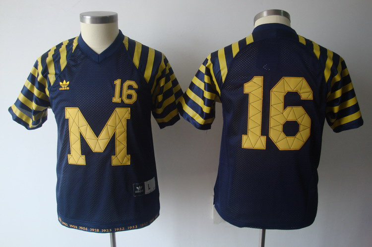 NCAA Michigan Wolverines 16 ROBINSON blue M&N
