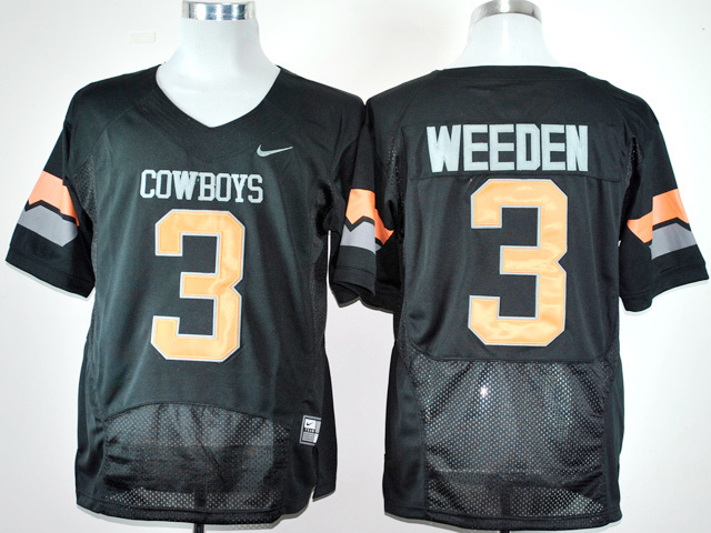 NCAA Nike Oklahoma State Cowboys Brandon Weeden 3 Black