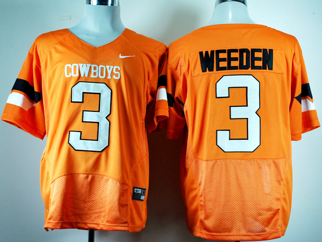 NCAA Nike Oklahoma State Cowboys Brandon Weeden 3 Orange