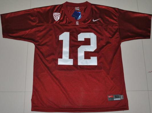 NCAA Nike Stanford Cardinal Andrew Luck 12 Red College Football Jersey Pac-12 Patch