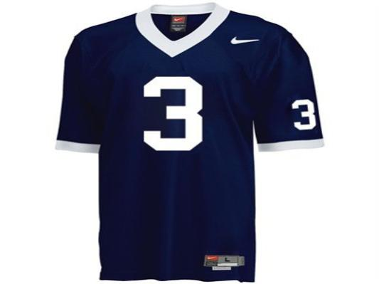 NCAA Penn State Nittany Lions 3 Navy Blue College Football Jersey