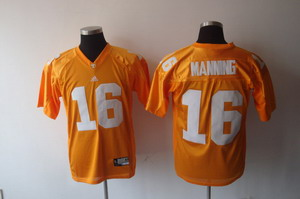 NCAA Tennessee Volunteers College Jersey 16 Peyton Manning yellow Jerseys