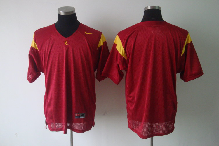NCAA USC Trojans blank red jerseys
