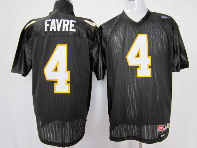 NCAA southern mississippi gold eagles 4 brett favre black color jersey