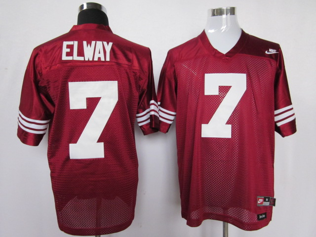 NCAA stanford cardinals 7 john elway red color jersey
