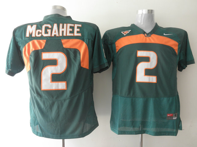 Nike NCAA Miami Hurricanes 2 Willis McGahee Green.