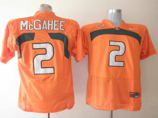 Nike NCAA Miami Hurricanes 2 Willis McGahee Orange