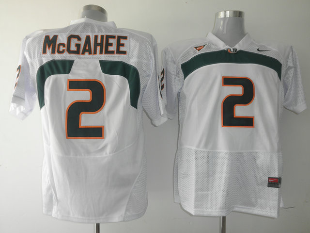 Nike NCAA Miami Hurricanes 2 Willis McGahee White