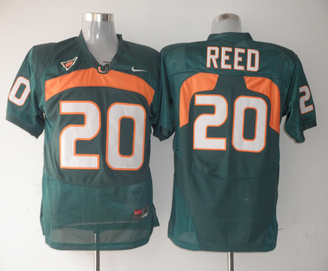 Nike NCAA Miami Hurricanes 20 Ed Reed green