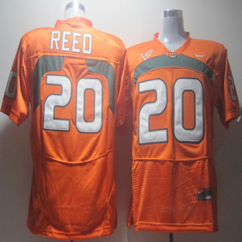 Nike NCAA Miami Hurricanes 20 Ed Reed orange